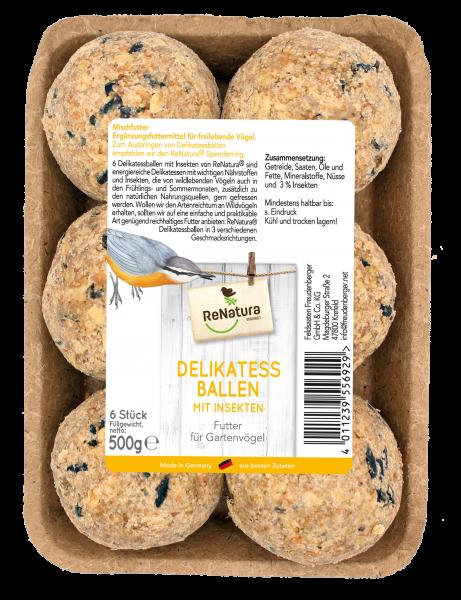 ReNatura® Delikatessballen mit Insekten ohne Netz